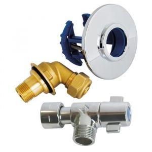 Somatherm Fixoplac coudé à compression PER pour WC Ø12-M3/8(12/17) avec robinetterie -