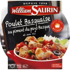 William Saurin Poulet basquaise au piment d'espelette et son riz - L'assiette micro-ondable de 285g