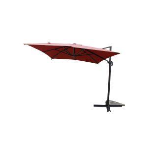 Concept-Usine Calvia Terracotta - Parasol rectangulaire avec LED