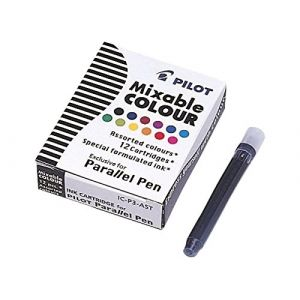 Pilot Lot de 12 cartouches d'encre pour stylos Parallel (12 couleurs)
