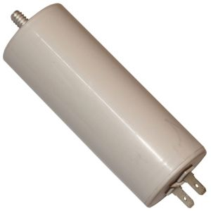 Aerzetix Condensateur permanent de travail pour moteur 40µF 450V avec cosses 6.3mm
