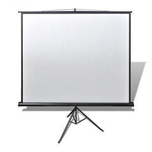 Ecran de projection avec trépied (200 x 200 cm) 1:1