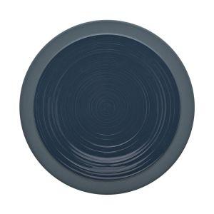 Guy Degrenne Assiette plate ronde 26cm bleu de roche en grès - A l'unité - Bahia