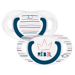 Bébé Confort 2 sucettes silicone Natural Physio Rebel 18-36 mois