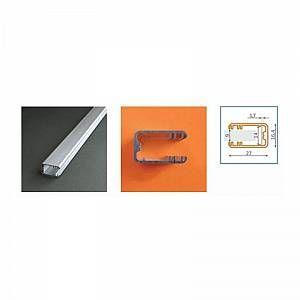 Vision-El Profilé aluminium anodisé LED GLASS LINE 1000 mm pour bandeau LED -