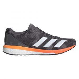 Adidas Adizero Boston 8 M, Chaussures de Running Homme, Gris Grey Four F17/Ftwr White/Flash Orange, 46 EU