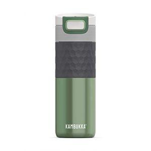 Kambukka Etna Grip - Bouteille isotherme taille 500 ml, gris/noir/vert