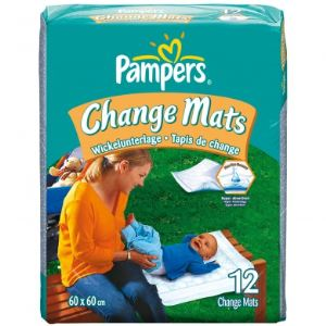 Pampers 12 tapis de change Change Mats