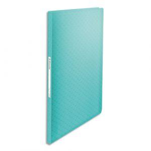 Esselte Protège-documents Colour ice 40 pochettes, 80 vues, en polypropylène 5/10ème. Coloris bleu - Lot de 3