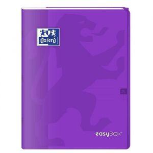 Oxford Cahier Easybook agrafé - 17 x 22 cm - 96p seyès - 90g - Violet