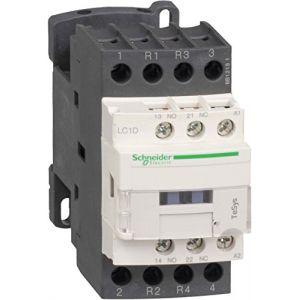 Schneider Electric Lc1d188bd tesys d Contacteur, 4P, 2 Na + 2 NC, 440 V 32 A AC-1, 24 Vcd Bobine