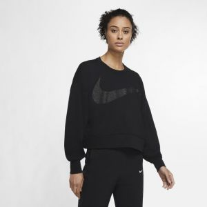 Nike Haut de training scintillant en tissu Fleece Dri-FIT Get Fit pour Femme - Noir - Taille S - Female