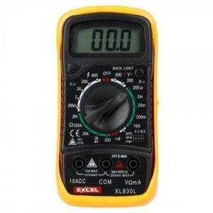Multimètre Digital LCD Voltmètre Ohmmètre Ampèremètre + 2 Cordons