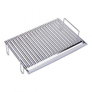 Sauvic 02775 - Grille de barbecue inoxydable en V avec pieds 55 x 44 x 15 cm