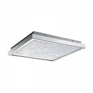 Eglo Plafonnier CARDITO LED Chrome, Verre cristal, 4 lumières - Moderne - Intérieur - CARDITO