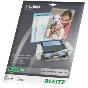 Leitz 25 pochettes de plastification iLAM 80 microns UDT A4