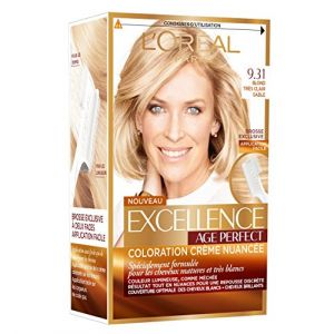 L'Oréal Excellence Coloration Cheveux Matures & Très Blancs Age Perfect 9,31 Blond Très Clair Sable