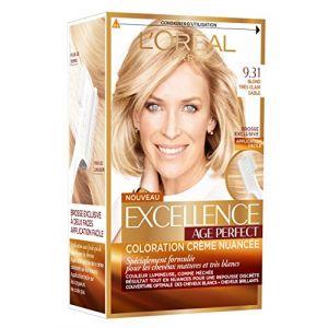 L'Oréal Excellence Coloration Cheveux Matures & Très Blancs Age Perfect 9,31 Blond Très Clair Sable
