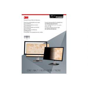 3M Filtre de confidentialite avec cadre pour moniteur panoramique 22 - filtre anti-indiscretion - 21.5-22 wide (LCD)