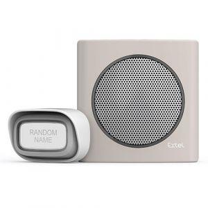 Extel Carillon sans fil avec portée de 200m et 6 sonneries au choix diBi Flash Soft - Marron