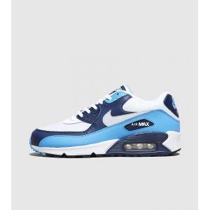 Nike Homme Air Max 90 Bleu, Blanche Et Noire Baskets