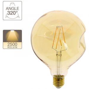 Xanlite Ampoule LED globe irrégulière verre ambré culot E27