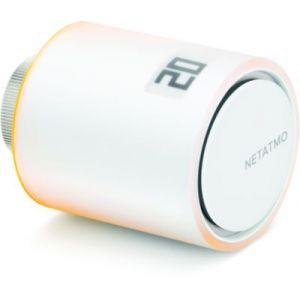 Netatmo Tête programmable de radiateur thermostatique connecté équerre PVC blanc