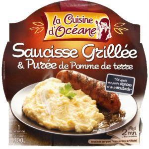 La Cuisine d'Océane Saucisse grillée et purée de pomme de terre