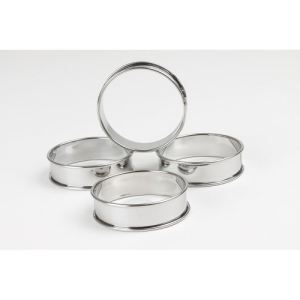 Patisse 4 cercles à tarte en inox (8 cm)