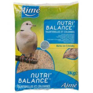 Aimé Nutri'balance - Mélange de graines pour tourterelles et colombes 3 kg