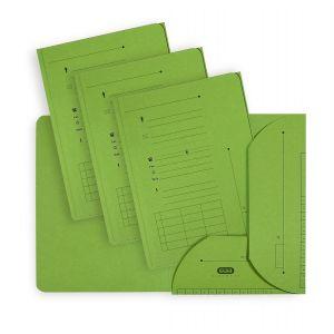 Elba 100330149 - Sous-dossier Ultimate chemise HV 2 rabats, lot de 25, A4 kraft vert
