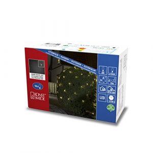 Konstsmide Micro Filet lumineux LED, fumé, 96, diodes blanc chaud Transformateur extérieur 36 V Câble, plastique, noir
