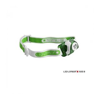 Led lenser SEO 3 Lampe frontale, green Lampes frontales course à pied