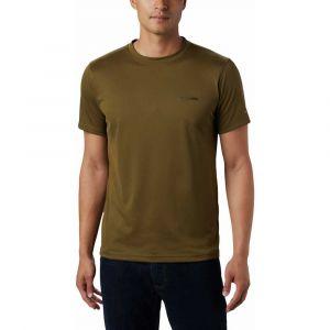 Columbia Zero Rules Chemise manches courtes Homme, new olive L T-shirts techniques