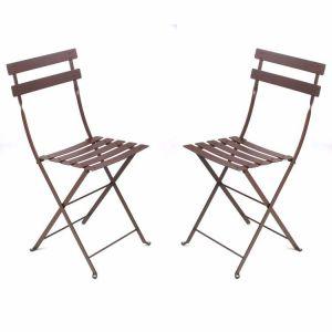 Fermob Bistro - 2 chaises de jardin pliantes en métal