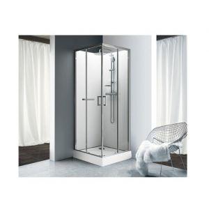 Schulte ufer cabine de douche int grale verona 90 x 90 cm Porte de douche coulissante arrondie