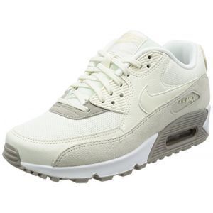Nike Air Max 90, Sneakers Basses Femme, Beige (Light Orewood Brown/Sail-Cobblestone-White), 36.5 EU