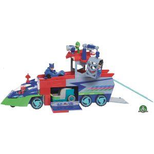 PVM Camion de transport sonore et lumineux avec mini véhicule et figurine - Pyjamasques