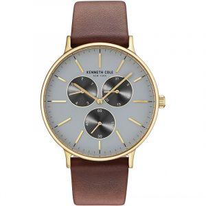 Kenneth Cole Men's KC14946003 Brown Leather Analog Quartz Dress Watch