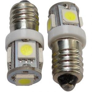 Aerzetix 2x ampoules E10 5LED SMD 12V lumière blanche C17477