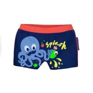 Petit Béguin Boxer de bain bébé garçon bleu Splash - Bleu, Taille 6 mois (68 cm)