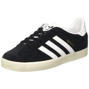 Adidas Gazelle, Baskets Mixte Adulte, Noir (Core Black/Footwear White/Gold Metallic 0), 38 2/3 EU