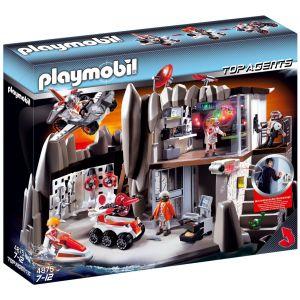 Playmobil 4875 Top Agents - Quartier général des agents secrets avec système d'alarme