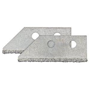 Image de Wolfcraft 2 Lames de rechange pour grattoir a joint 5570000 Lames de rechange pour grattoir à joint Pour les joints de carrelage de 2,5 à 6mm de largeur.