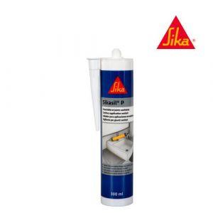 Sika Mastic silicone universel pour joint d'étanchéité sil-P Marine - Blanc - 300ml
