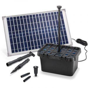 Esotec Kit pompe solaire bassin avec filtre Fountain Pro 875L-25W