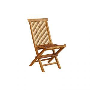 Chaise de jardin pliante en teck huil comparer avec for Chaise en teck pliante
