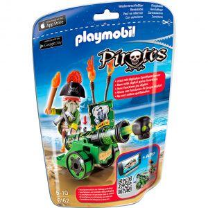 Playmobil 6162 Pirates - Capitaine avec canon vert