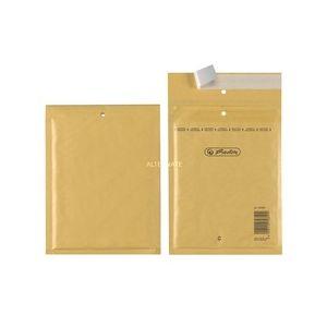 Herlitz A/1 Lot de 4 pochettes en papier bulle Film intérieur en polyuréthane Emballé sous vide 15 x 21 cm marron
