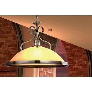 Globo Lustre ancien suspension luminaire plafond éclairage verre ambre laiton cuisine